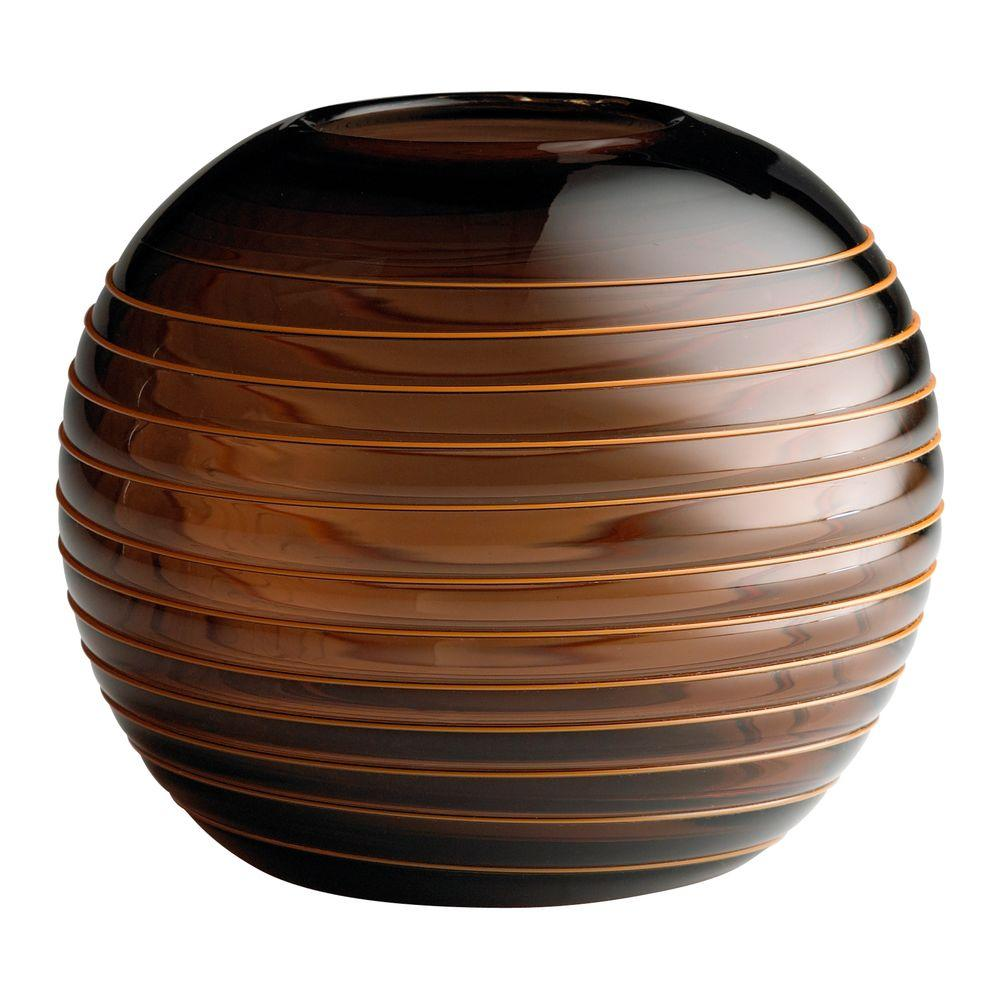 Filament Design Prospect 23.25 in. x 10.75 in. Black And Amber Vase