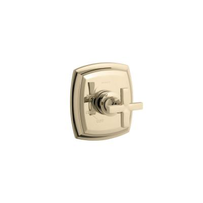 Margaux Rite-Temp 1-Handle Tub and Shower Faucet Trim Kit with Cross Handle in Vibrant French Gold (Valve Not Included)