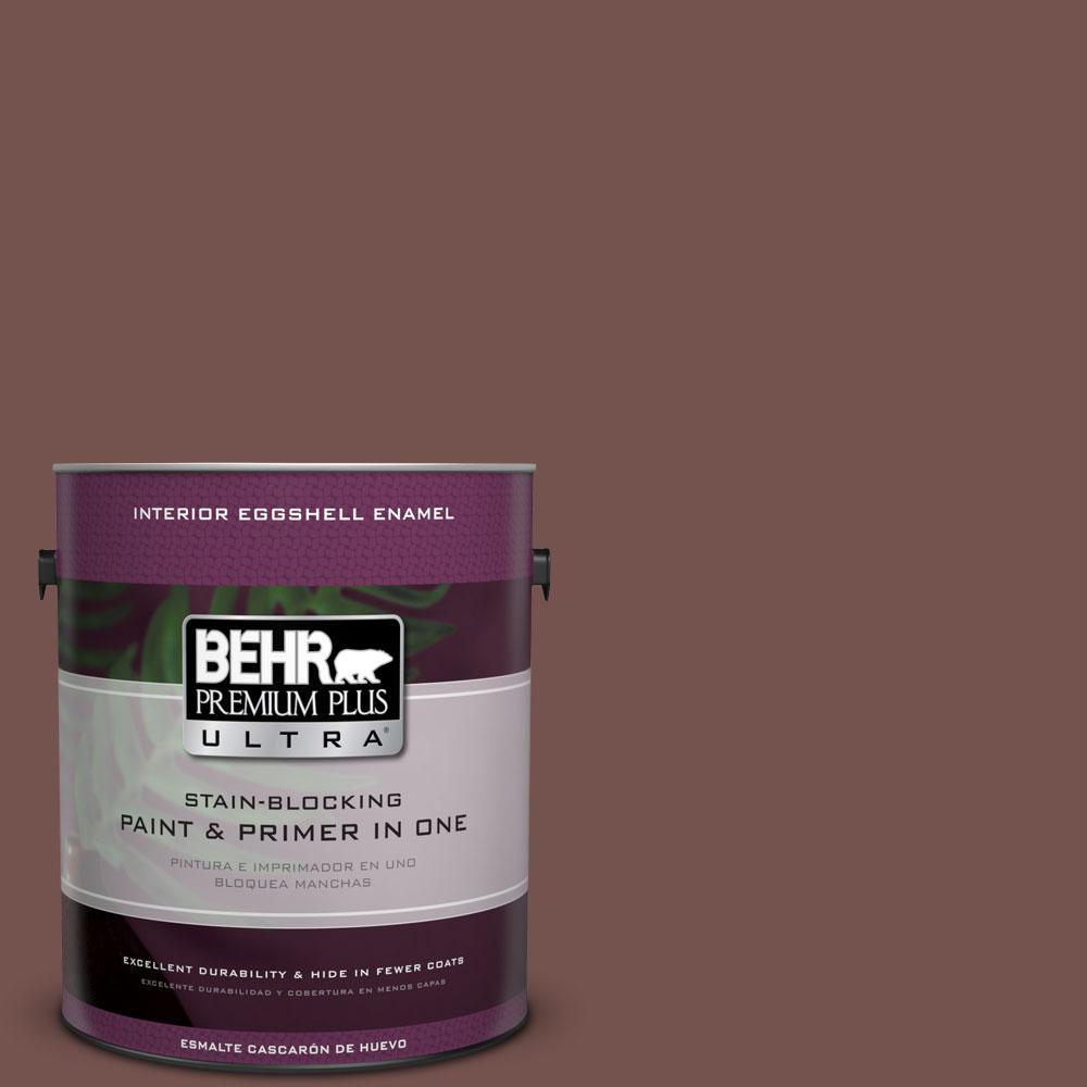 BEHR Premium Plus Ultra Home Decorators Collection 1-gal. #HDC-CL-12 Terrace Brown Eggshell Enamel Interior Paint