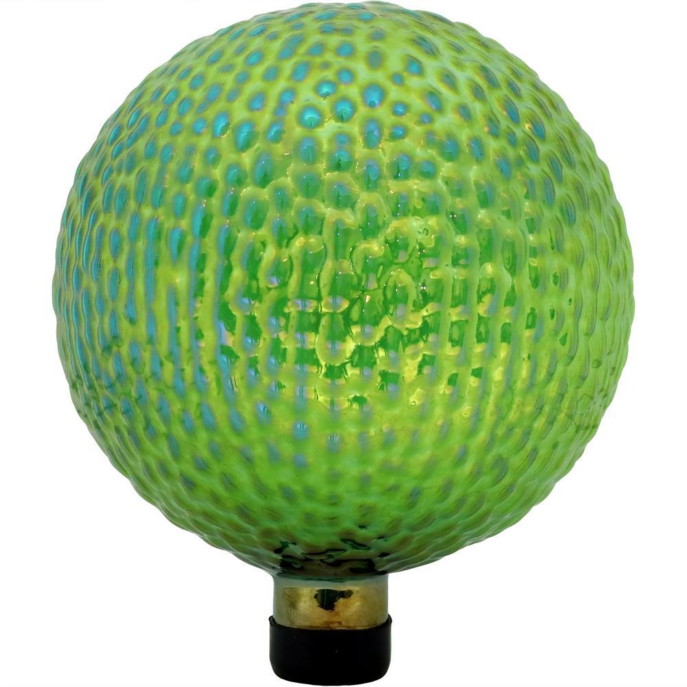 10 in. Green Textured Surface Outdoor Garden Gazing Globe Ball
