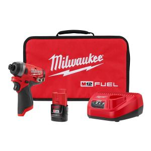 Deals on Milwaukee M12 FUEL 12V Brushless Cordless 1/4 in. Impact Driver Kit