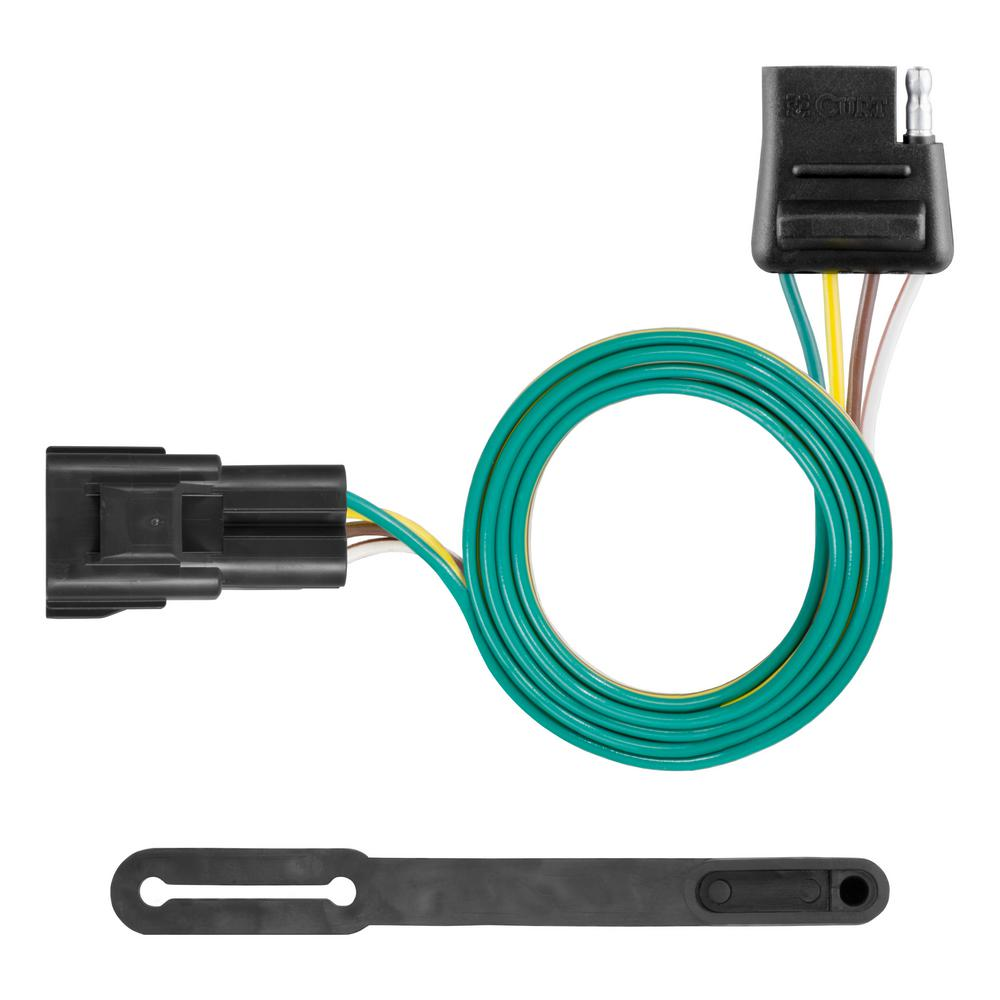 Astonishing Curt Custom Wiring Connector 4 Way Flat Output 56325 The Home Depot Wiring 101 Taclepimsautoservicenl
