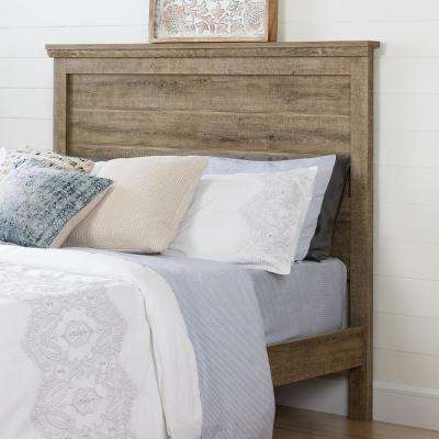 Lionel Weathered Oak Queen Headboard