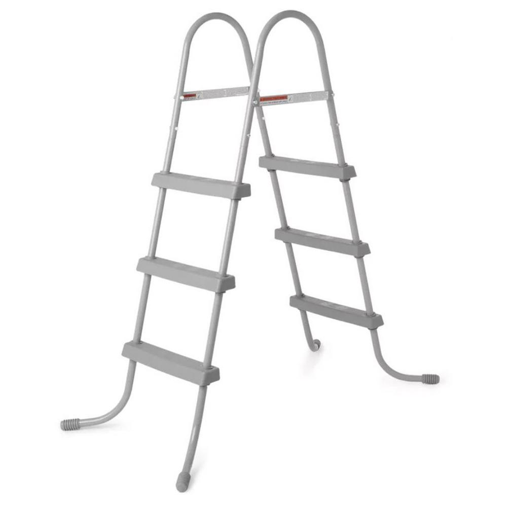 Bestway 36 in. Steel Above Ground Swimming Pool Ladder No-Slip Steps