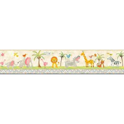 Growing Up Kids Jungle Boogie Removable Wallpaper Border
