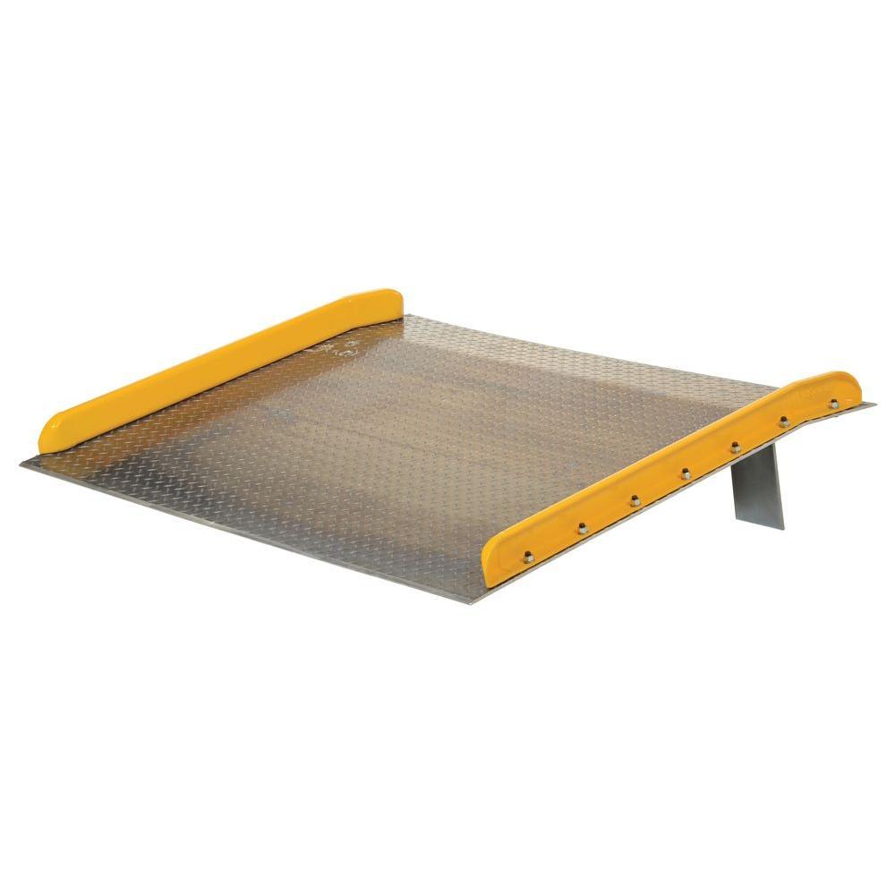 Vestil 60 in. x 36 in. 15,000 lb. Capacity Aluminum Dock Board with Steel Curb