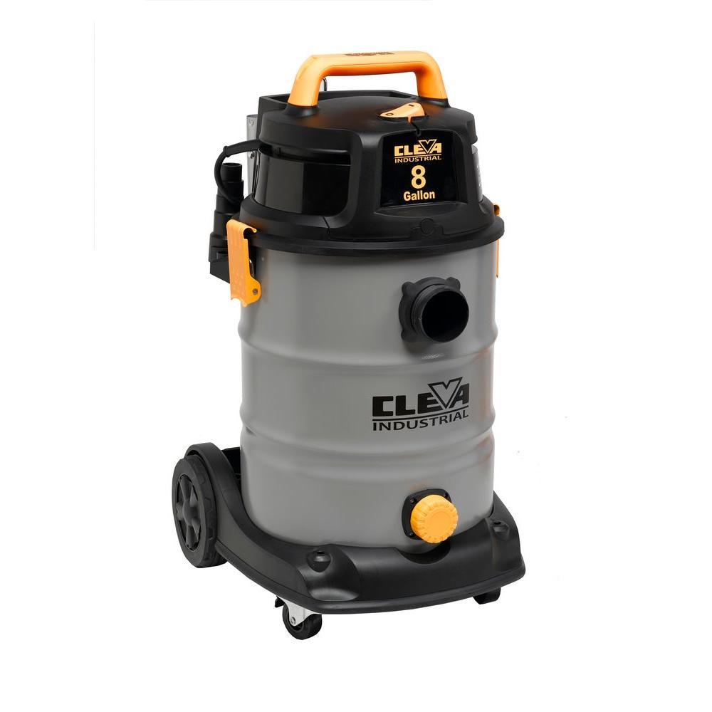 Cleva Industrial 8-gal. Industrial Wet/Dry Vacuum with 2-Stage Motor
