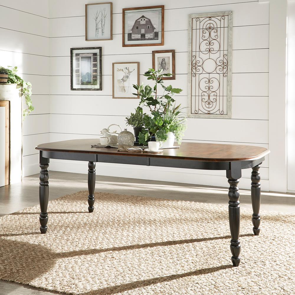 HomeSullivan Anna Antique Black Extendable Dining Table