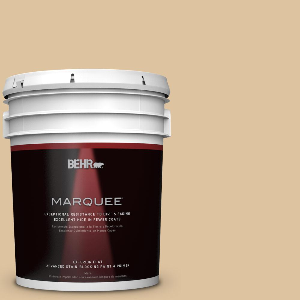 5-gal. #S300-3 Almond Cookie Flat Exterior Paint