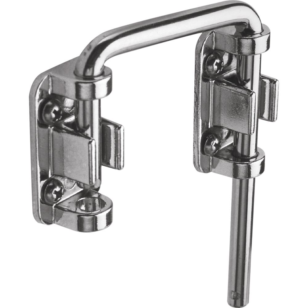 Prime line patio chrome sliding door loop lock u 9847 for Home depot sliding glass door lock