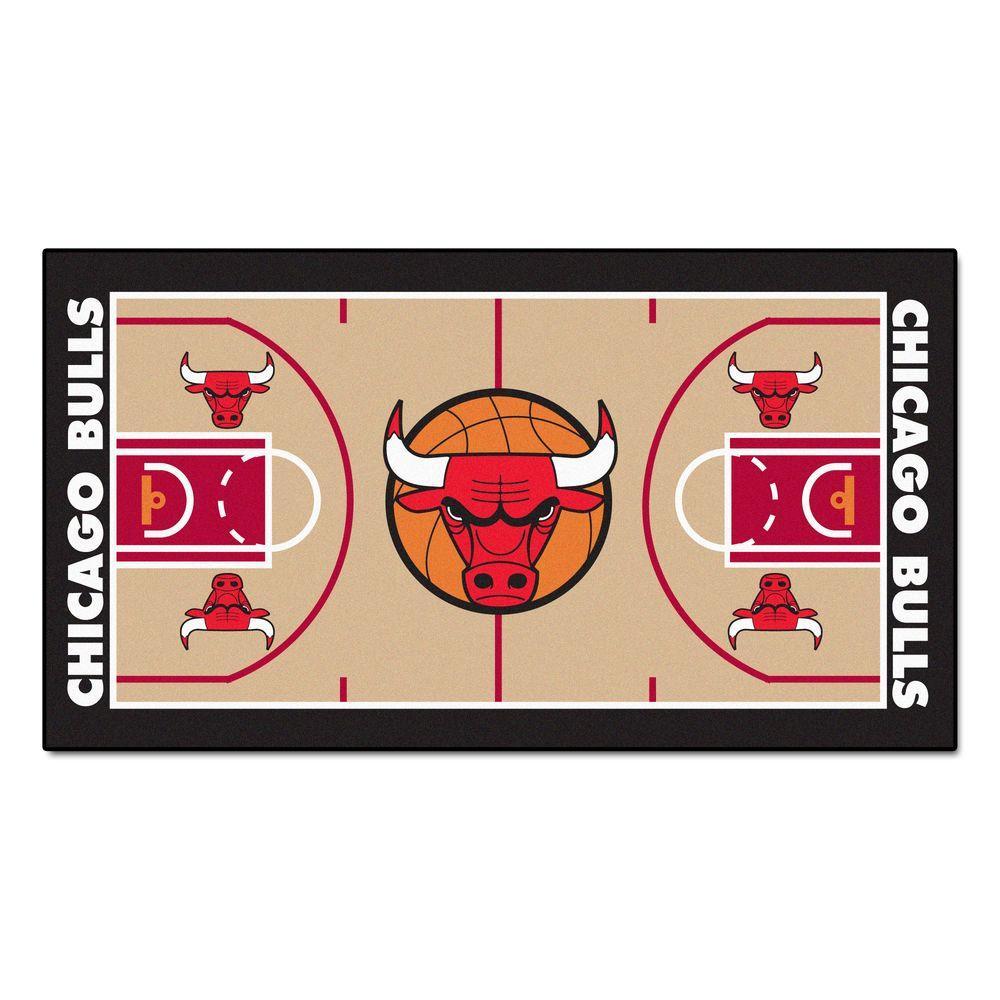 Chicago Bulls 2 ft. x 4 ft. NBA Court Runner Rug