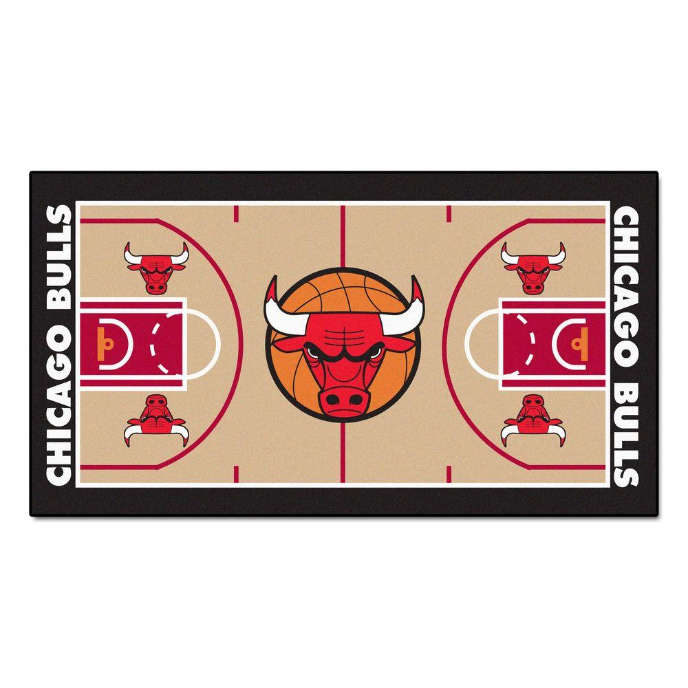 Chicago Bulls 2 ft. x 3 ft. 8 in. NBA Court
