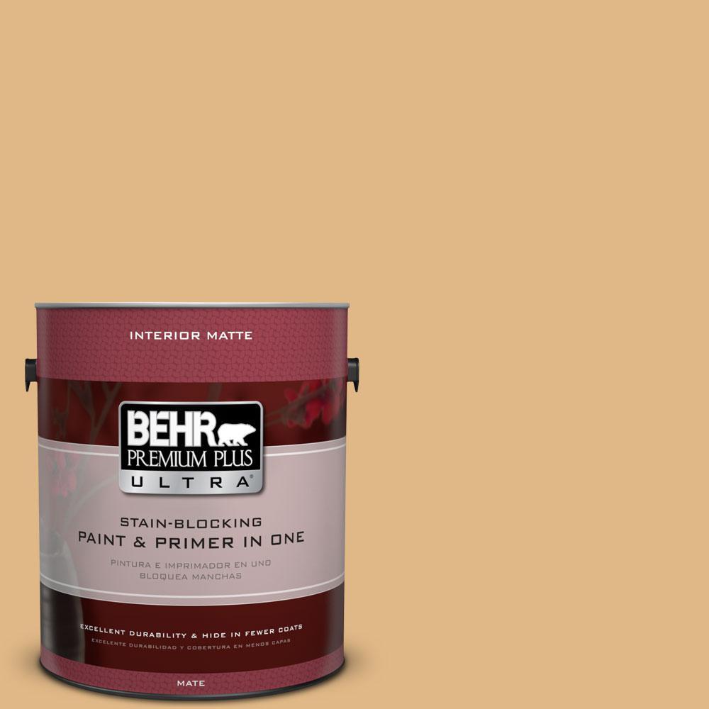 BEHR Premium Plus Ultra Home Decorators Collection 1 gal. #HDC-CL-18 Cellini Gold Flat/Matte Interior Paint