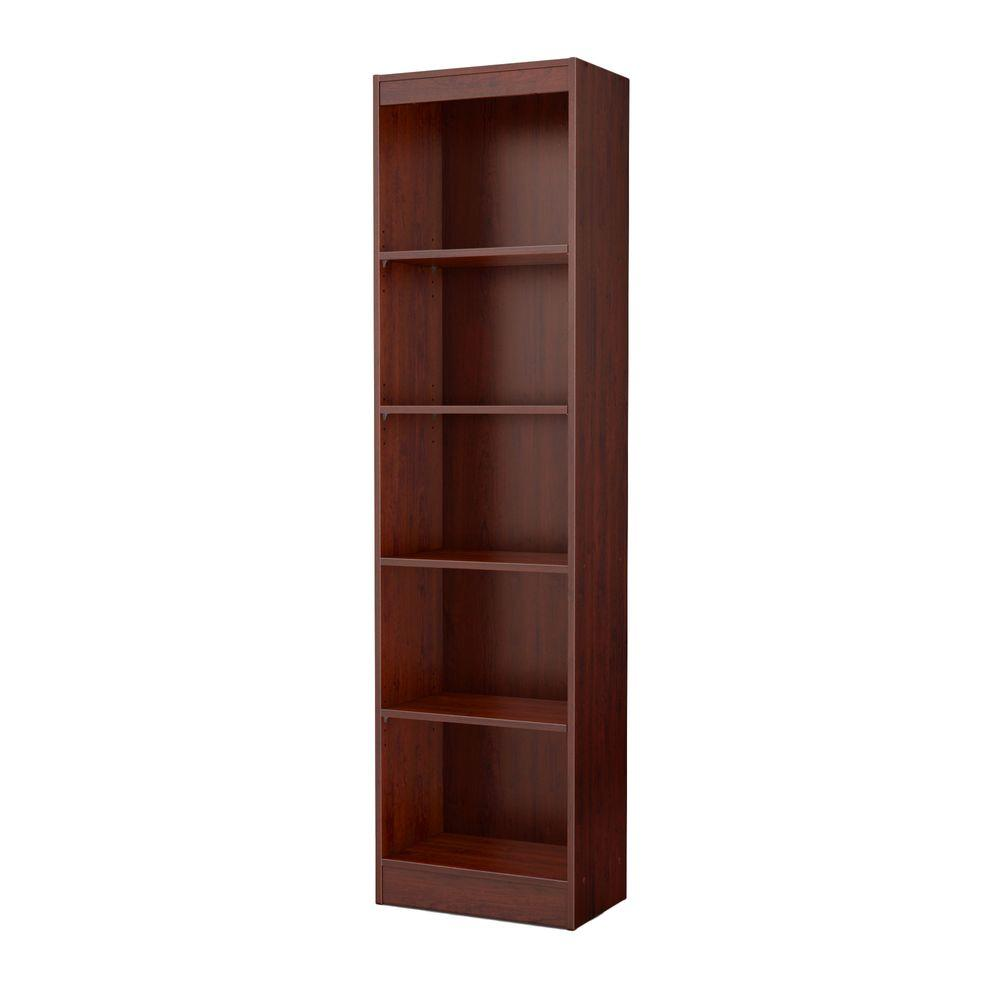 South Shore Axess 5 Shelf Bookcase In Royal Cherry