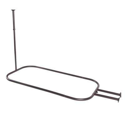 48 in. Aluminum Hoop Shower Rod in Oil Rubbed Bronze