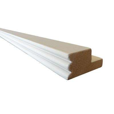Pacific White Assembled 96x1x2 in. Beaded Light Rail Molding