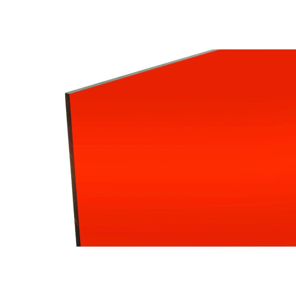FABBACK 48 in. x 96 in. x .118 in Orange Acrylic Mirror