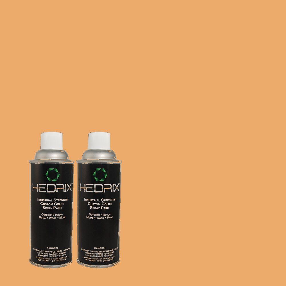 Hedrix 11 oz. Match of 2A16-4 Navajo Pony Flat Custom Spray Paint (2-Pack)