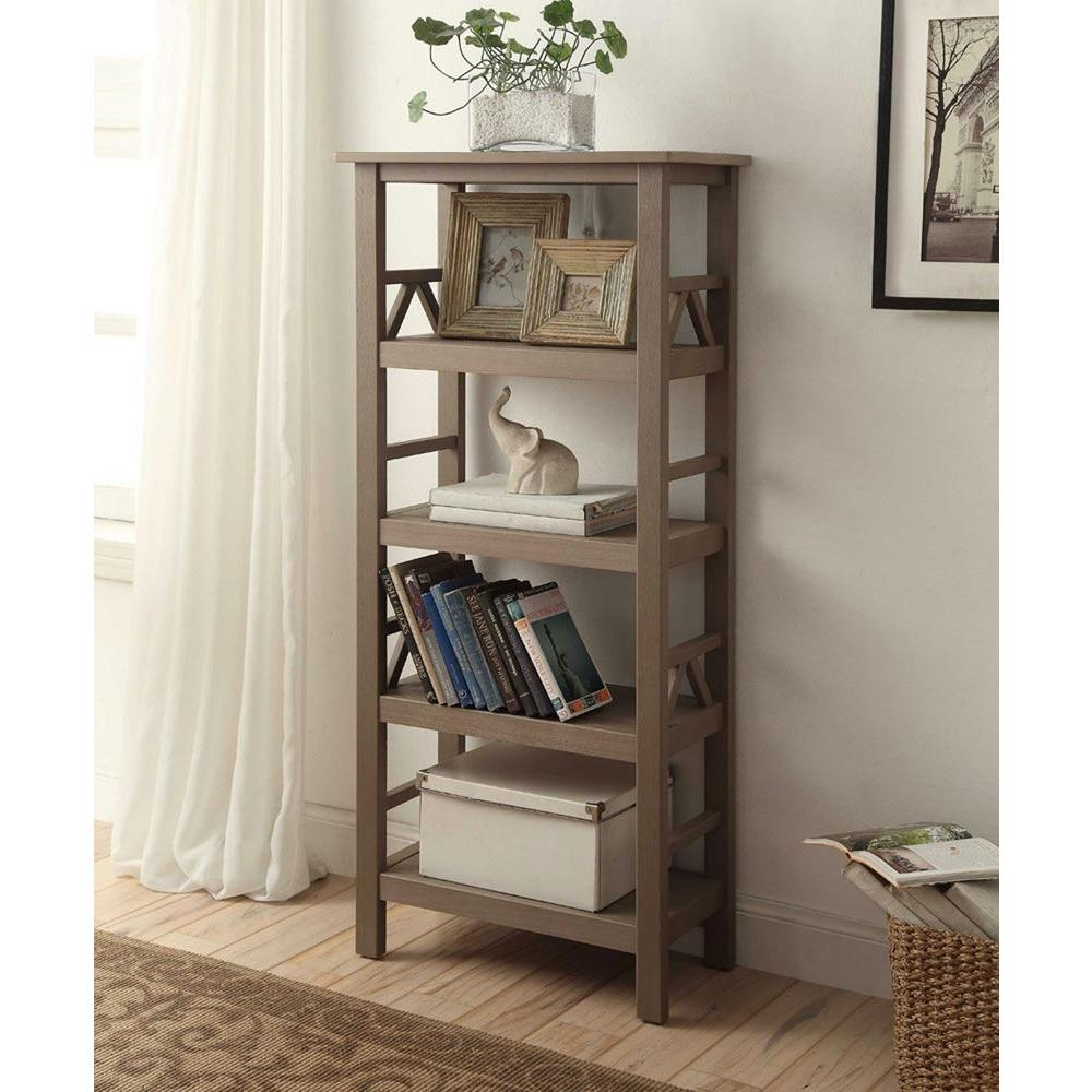 Linon Home Decor Titian Driftwood Open Bookcase