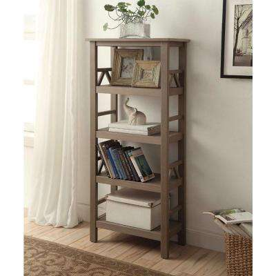 Titian Rustic Gray Open Bookcase
