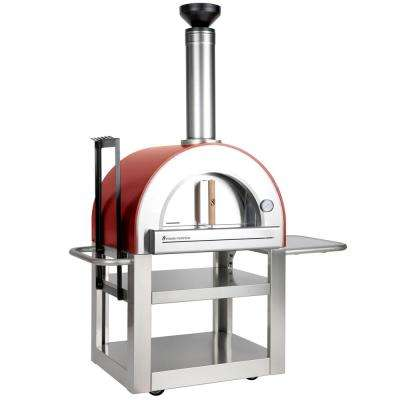 Pronto 500 Wood Burning Oven 20 in. x 24 in. in Red
