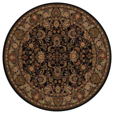 Persian Classics Mahal Black 8 ft. Round Area Rug