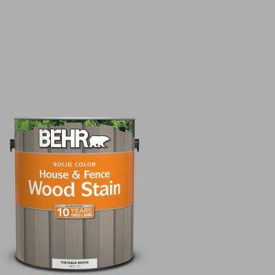 1 gal. #N520-3 Flannel Gray Solid House and Fence Wood Stain