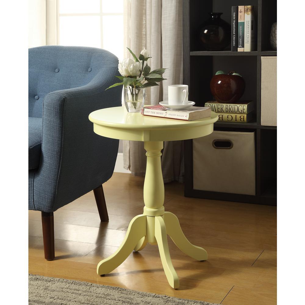 Alger Light Yellow Side Table