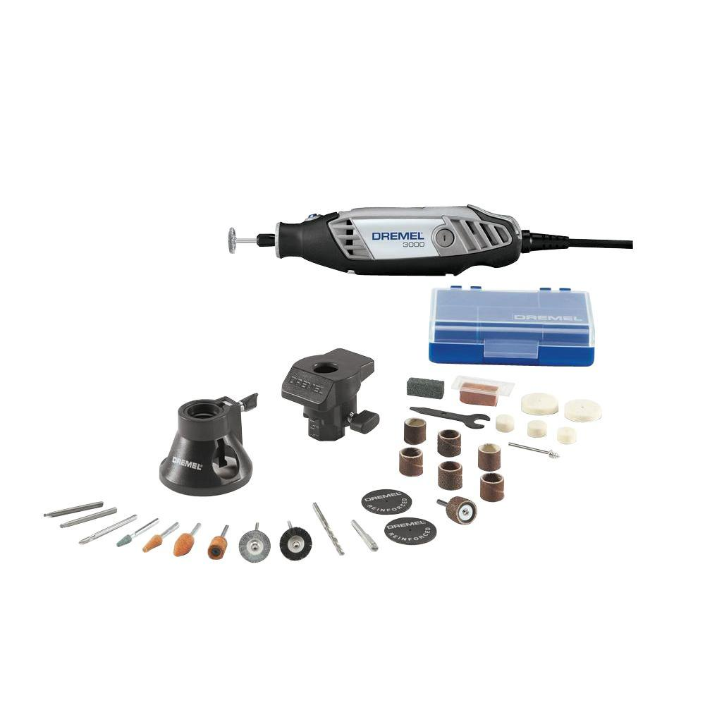 Dremel 3000 Series 1.2 Amp Variable Speed Corded Rotary Tool Kit with 28 Accessories, 2 Attachments and Carrying Case