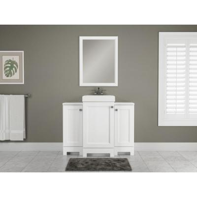 Shaila 18.5 in. W Bath Vanity in White with Cultured Marble Vanity Top in White with White Basin