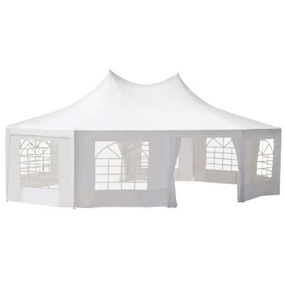 21 ft x 29 ft White Large 10-Wall Event Wedding Gazebo Canopy Tent with Open Floor Design and Weather Protection