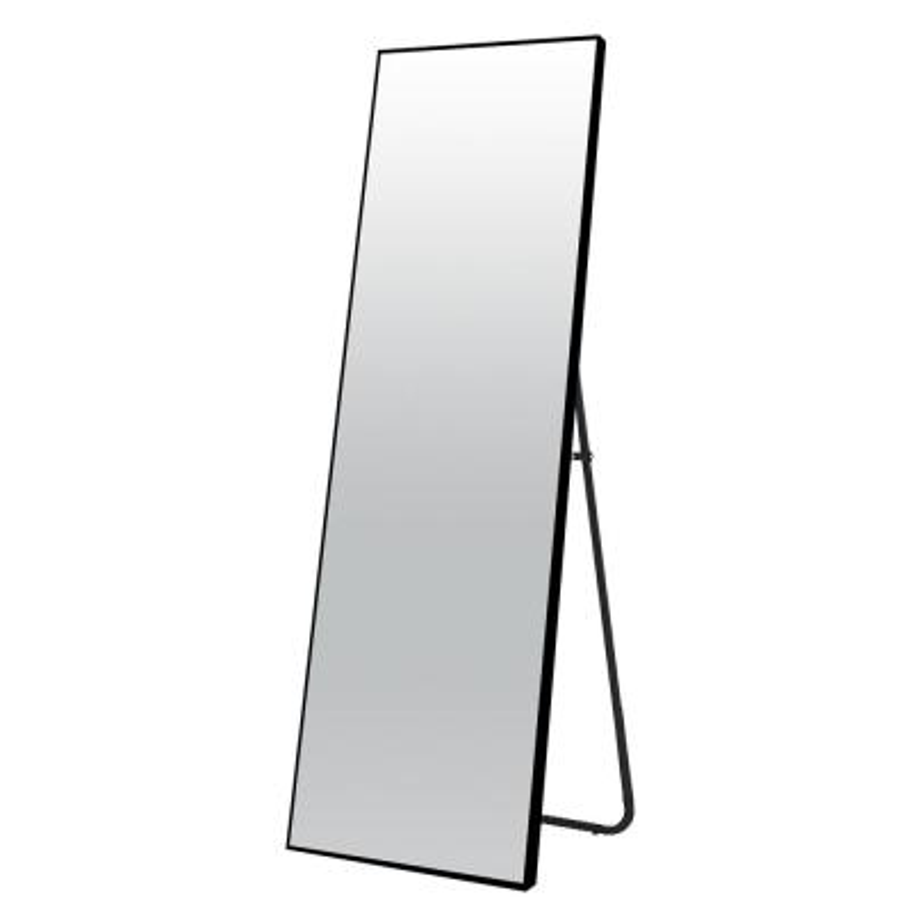 64 in. x 21 in. Modern Rectangle Metal Framed Black Full Length Floor Mirror Standing Mirror