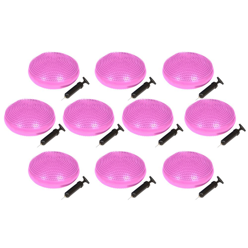 Trademark Innovations 13 in. Dia  PVC Fitness and Balance Disc, Pink (Set of 10)