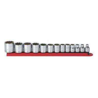 3/8 in. Drive SAE 12-Point Standard Socket Set (13-Piece)