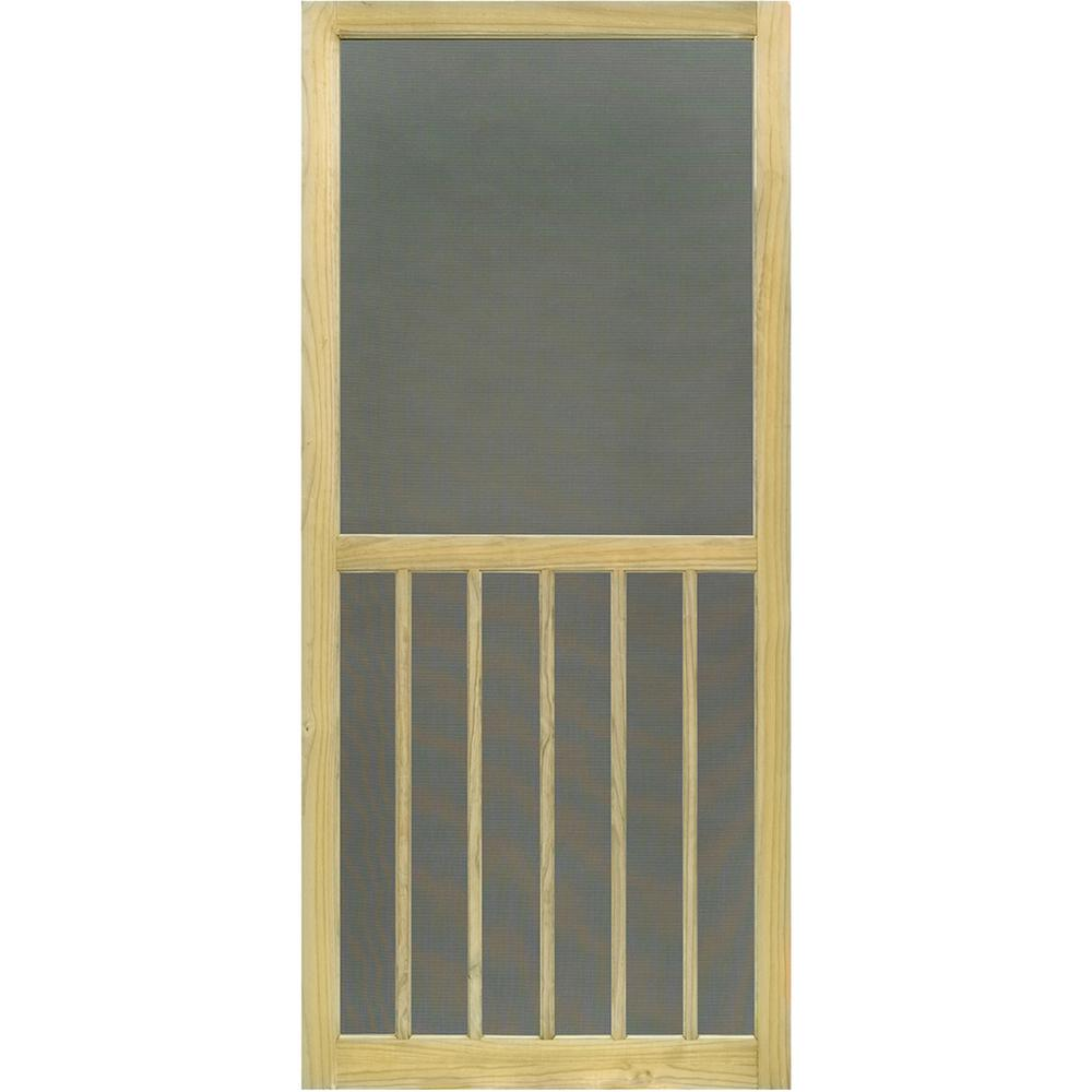Kimberly Bay 36 in. x 80 in. 5-Bar Premium Stainable Screen Door