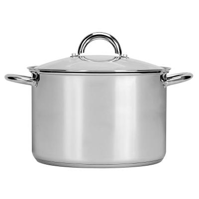 Preferred 8 qt. Stainless Steel Stock Pot with Glass Lid