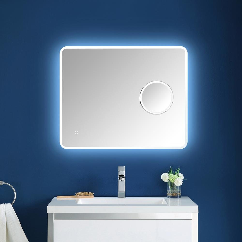 OVE Decors Moonpick 30 in. x 24 in. LED Frameless Mirror ...