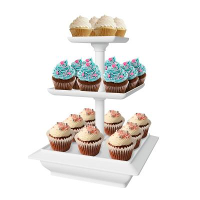 3-Tier Collapsible Dessert Stand with Self Storing Base