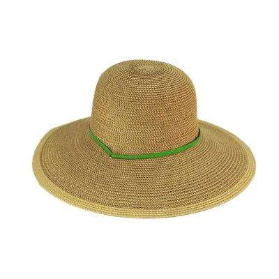 Solid Green Straw Hat