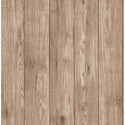 56.4 sq. ft. Mammoth Brown Lumber Wood Wallpaper
