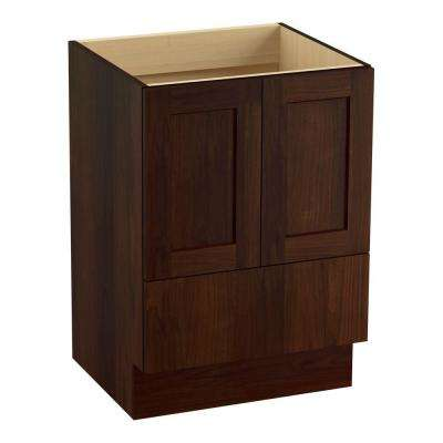 Poplin 24 in. Vanity Cabinet Only in Ramie Walnut