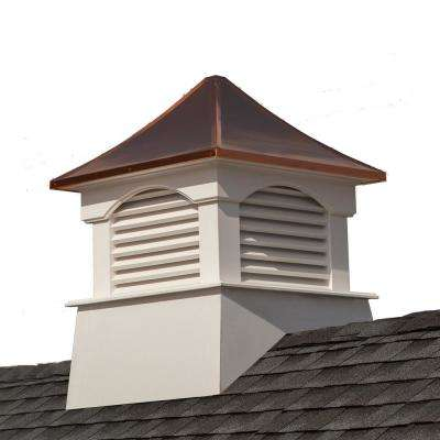 Coventry 36 in. x 49 in. Vinyl Cupola with Copper Roof