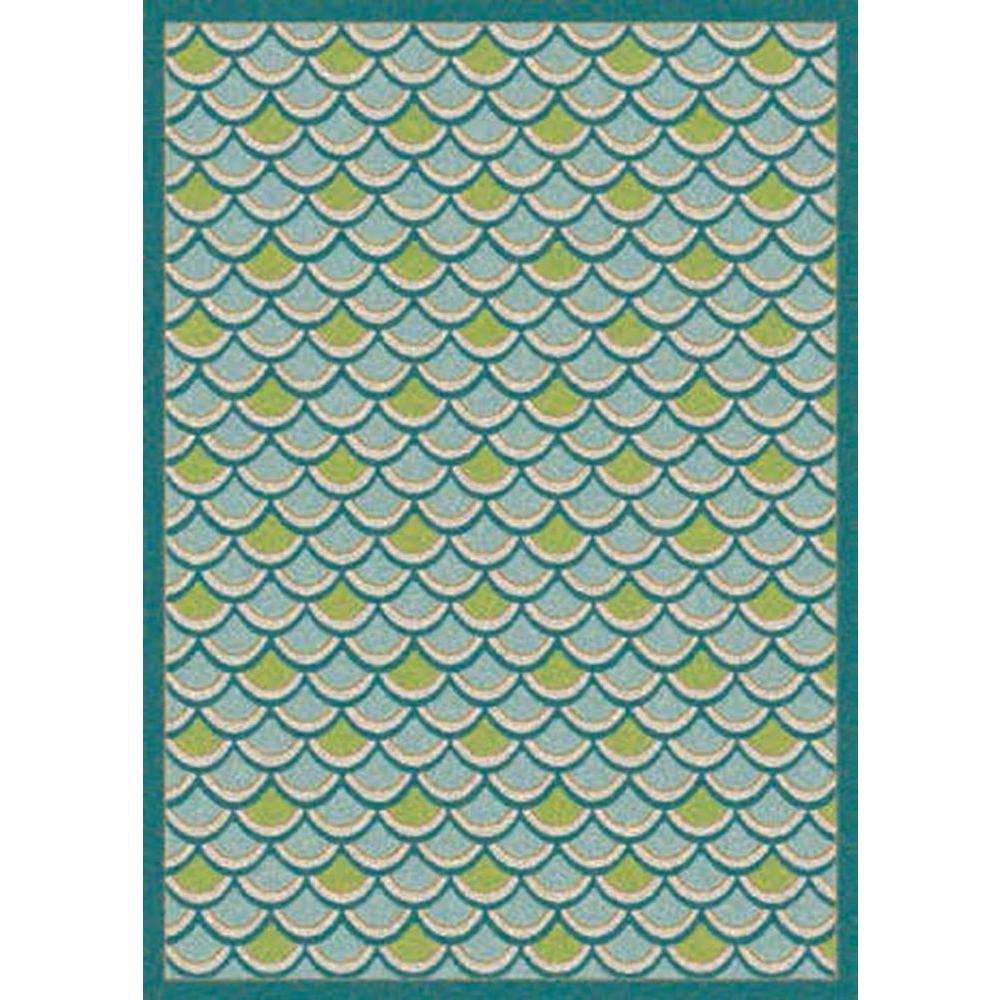Nourison Overstock Sublime Light Blue 6 ft. 6 in. x 9 ft. 9 in. Indoor/Outdoor Rug