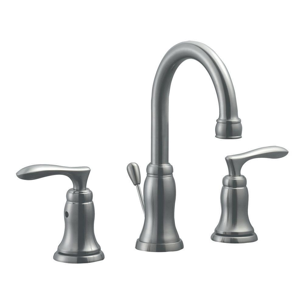 Madison 8 in. Widespread 2-Handle Bathroom Faucet in Satin Nickel