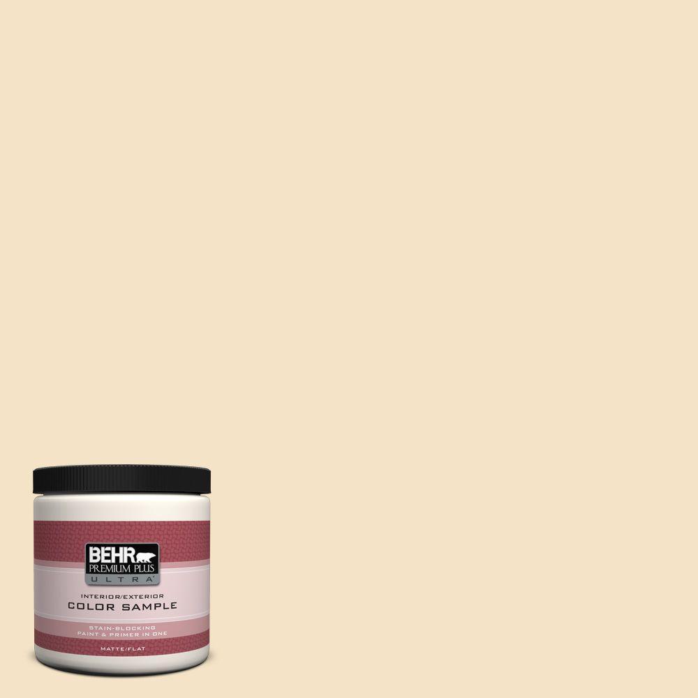 BEHR Premium Plus Ultra 8 oz. #PPU6-10 Cream Puff Interior/Exterior Paint Sample