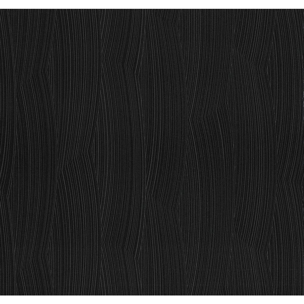 Hawkins Black Brush Stroke Texture Wallpaper Sample