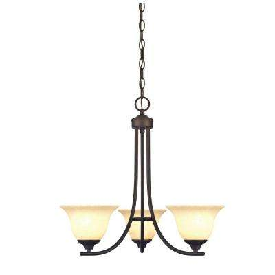 Kings Canyon 3-Light Oil Rubbed Bronze Chandelier