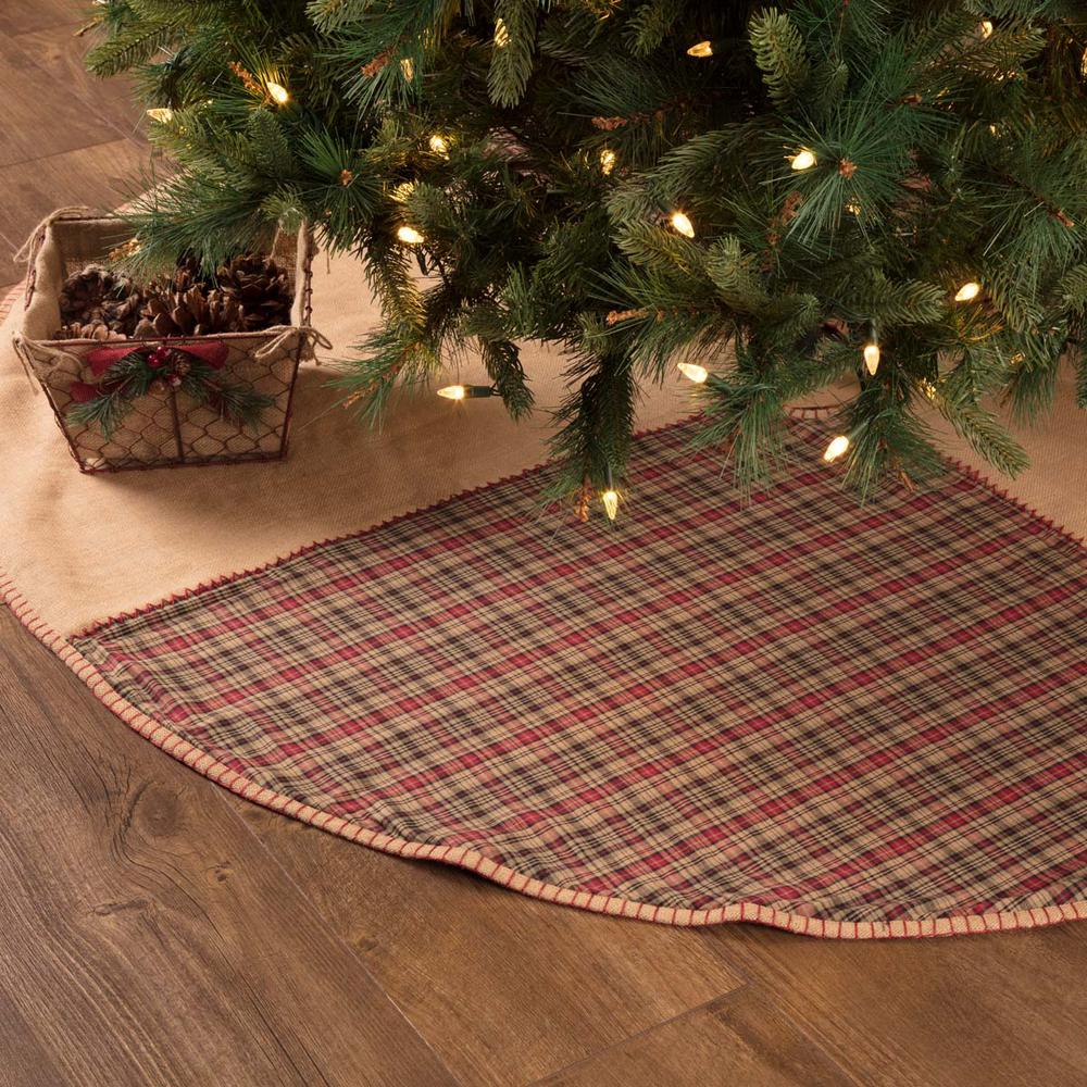 Rustic Christmas Decor.Vhc Brands 60 In Clement Natural Tan Rustic Christmas Decor Tree Skirt