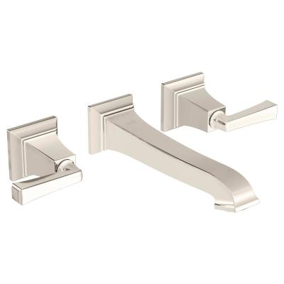 Town Square S 2-Handle Wall Mount Bathroom Faucet in Polished Nickel