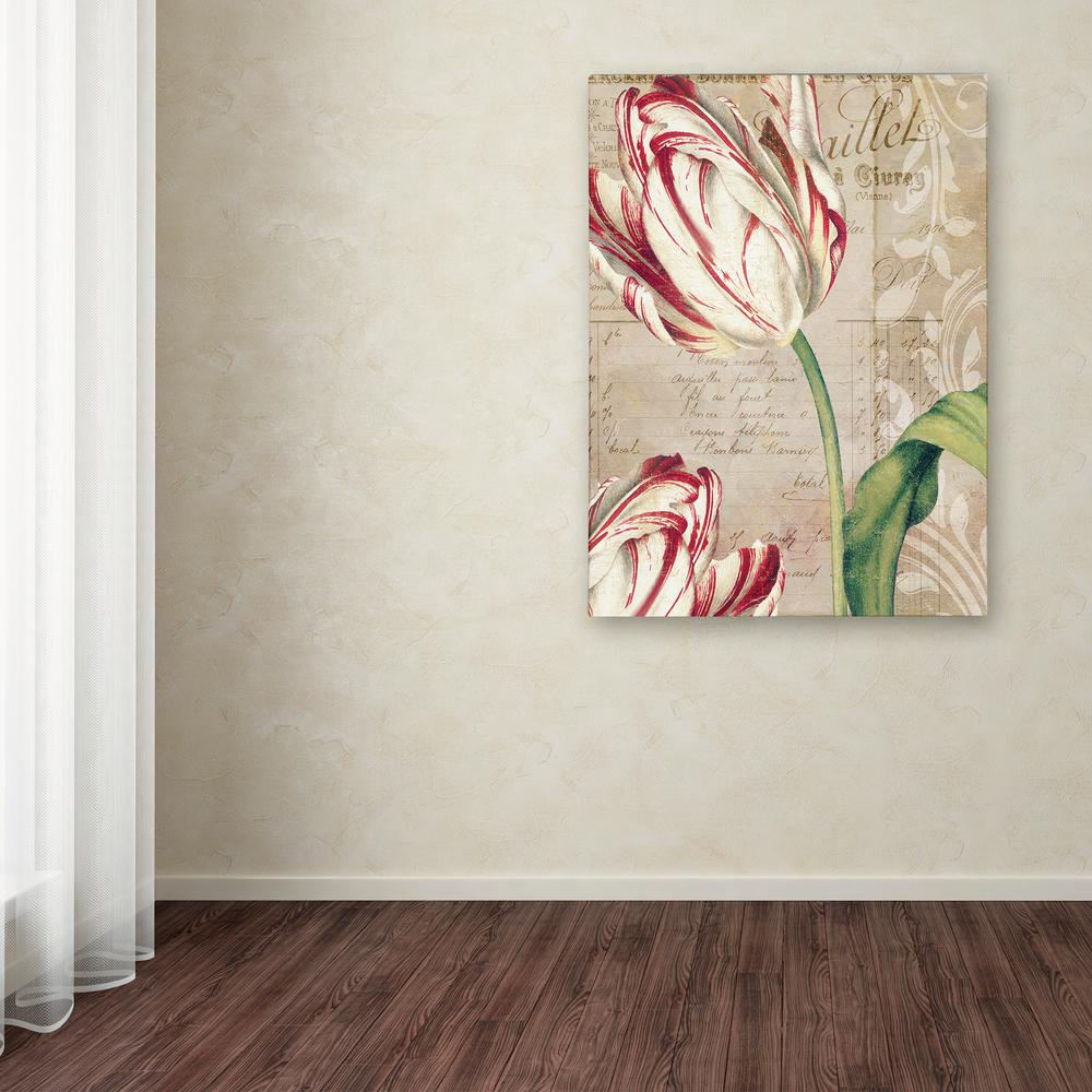 """24 in. x 18 in. """"Tulips"""" by Color Bakery Printed Canvas"""